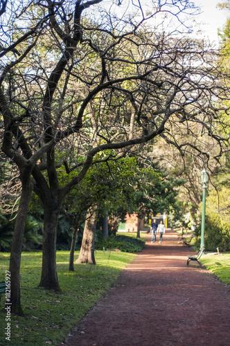 Plexiglas Buenos Aires Walking in garden