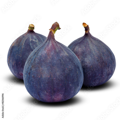Poster Fig isolated on white background. Clipping path