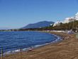Quiet Beach in November in Marbella Andalucia Southern Spain