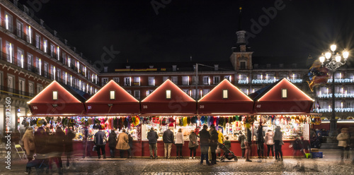 Papiers peints Madrid Christmas lights in the Plaza Mayor of the city of Madrid in the year 2017