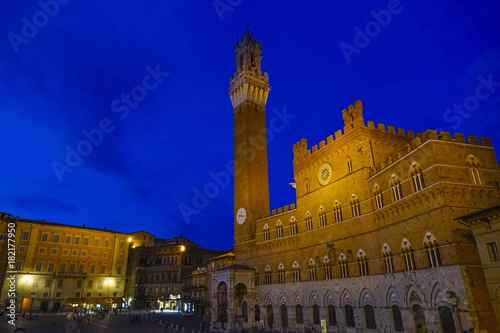 Foto op Canvas Toscane Siena, Palazzo Pubblico with Tower