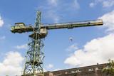 Stocznia Gdanska industrial factory with shipyard cranes - 182180598