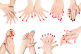 Different nail polish collection isolated with clipping path - 182184369