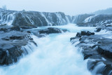 Landscape with Bruarfoss waterfall in Iceland