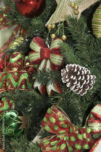 Close-up of Christmas tree decoration