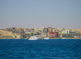 A beautiful view of Hurghada on the Red Sea. - 182202557