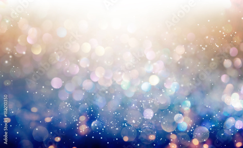 Plakat Beautiful abstract shiny light and glitter background