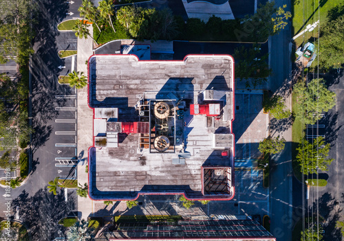 Plexiglas Graffiti South Florida Urban Aerial Photography