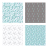 set of vector seamless floral and leaf patterns, abstract background illustrations - 182214553