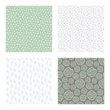 set of vector seamless floral and leaf patterns, abstract background illustrations - 182215125