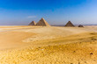 Landscape of the pyramids in Giza, Egypt