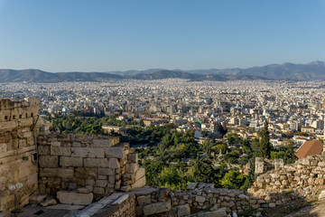 Photo from famous Lycabettus hill to Athens center