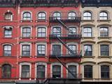 old Manhattan apartment buildings - 182216788