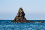 A volcanic rock formation at East Anacapa Island in Channel Islands National Park off the coast from Ventura, California. - 182220337