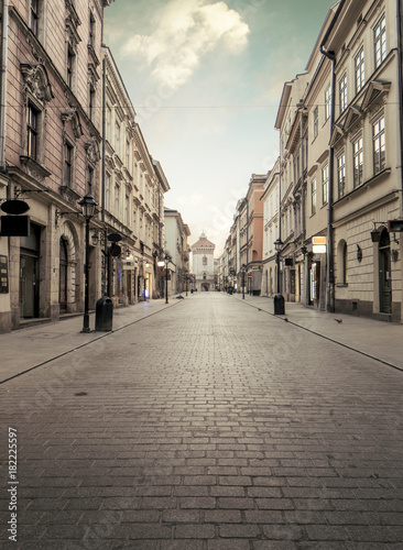 Florian street in historic city center of Krakow, Poland © mikolajn