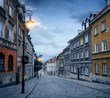Old town street in Warsaw, Poland - 182226707