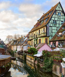 The little Venice of Colmar - is a picturesque old tourist area near  the  historic center of Colmar, Haut-Rhin,  Alsace, France. - 182227119