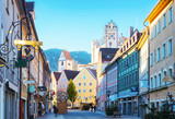 Old part of the city of Fussen  in beautiful sunny morning  after New Year's Eve,  Bavaria, Germany - 182227166
