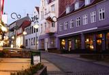 Old street  in Sonderborg, Southern Denmark - 182227364