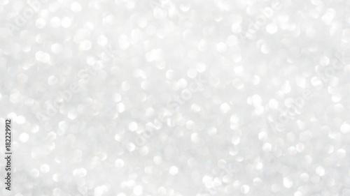 Leinwandbild Motiv white glitter and bokeh for a background.