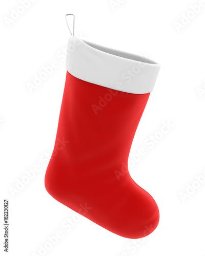 Papiers peints Echelle de hauteur Christmas Sock Isolated