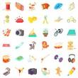 Hobby icons set, cartoon style - 182232531