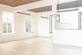 Büroraum, leer (Planung) - 182232599