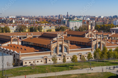 Cultural center called Matadero Madrid, in the Madrid area known as Madrid-rio, next to the Manzanares river