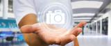 Businessman using modern camera application 3D rendering - 182233922