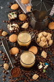 Espresso in a glass cup - 182239130