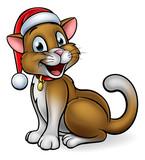 Santa Hat Christmas Cat