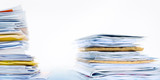 stack of mail on white background  - 182246363