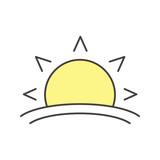 Rising sun color icon - 182247503