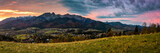 Panorama Tatra mountains from Koscielisko, Poland - 182249166