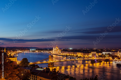 Foto op Canvas Boedapest City of Budapest Evening Cityscape