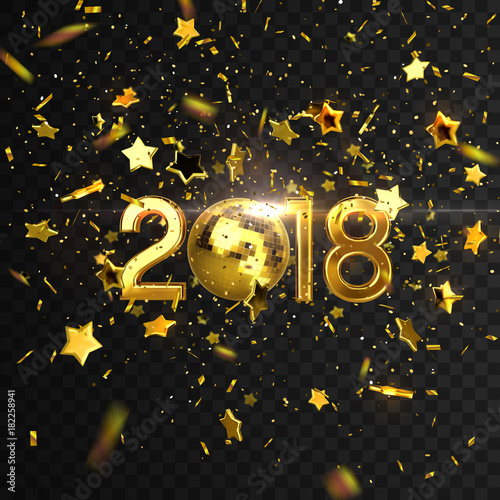 2018. Happy New Year. - 182258941
