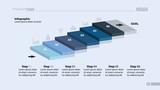 Six Steps Workflow Slide Template - 182264743