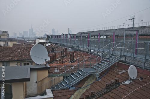 Tuinposter Spoorlijn Highline Galleria Milano