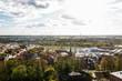 Panoramablick auf die Hansestadt Greifswald vom Dom aus - 182272333
