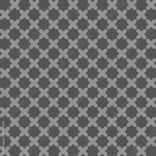 Abstract pattern in Arabian style. Seamless vector background. Grey and black texture. Graphic modern pattern. - 182272900