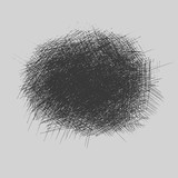 grunge rough hatching drawing textures set. vector illustration - 182273527