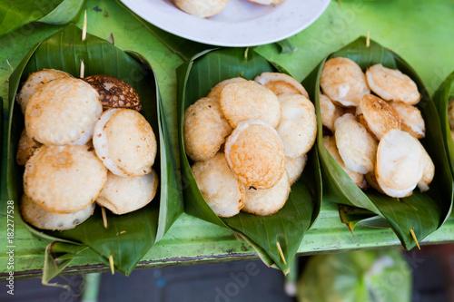 Thai fresh fried coconut cakes