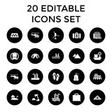 Set of 20 tourism filled icons - 182286506