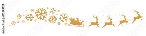 Papiers peints Echelle de hauteur Sleigh and snowflakes