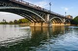 Triana Bridge in Seville, Spain
