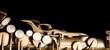 Saxophone jazz instrument sax isolated on black background
