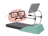 funny brain training on a treadmill
