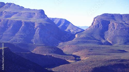 Plexiglas Donkerblauw South Africa: Meiringspoort canyon, Little Karoo | Südafrika: Schlucht in der Kleinen Karoo