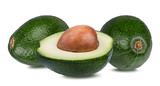 Fresh avocado isolated on white background with clipping path - 182294547