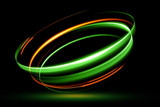 Glow swirl light effect. Circular lens flare. Abstract rotational lines. Power energy .element. Luminous sci-fi. Shining neon lights cosmic abstract frame. Magic round frame. Swirl trail effect - 182295516